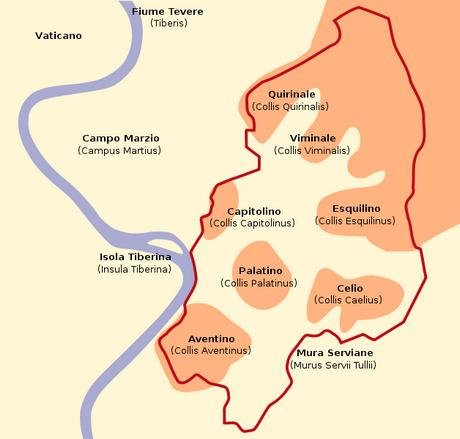 Storia di Roma antica, del Mediterraneo antico e del vicino Oriente antico - il numero 7 a Roma