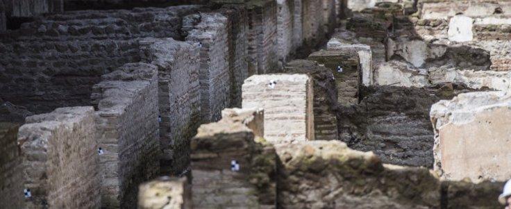 Storia di Roma antica, del Mediterraneo antico e del vicino Oriente antico - caserma romana nella metro C